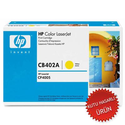 HP - HP CB402A (642A) SARI ORJİNAL TONER (Kutu Hasarlı Ürün)