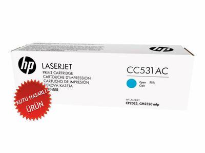 HP - HP CC531AC MAVİ ORJİNAL TONER - CP2025 / CM2320 (C)