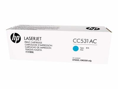 HP - HP CC531AC MAVİ ORJİNAL TONER - CP2025 / CM2320
