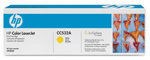 HP CC532A SARI ORJİNAL TONER - CP2025 / CM2320 SARI TONER (B)