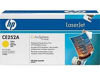 HP - HP CE252A (504A) SARI ORJİNAL TONER-CP352 / CM3530 TONERİ (B)