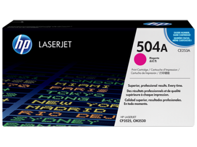 HP - HP CE253A (504A) Kırmızı Orjinal Toner Laserjet CM3530 / CP3525