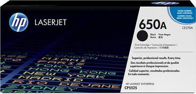 HP - HP CE270A (650A) Siyah Orjinal Toner - CP5525 Toneri
