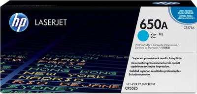 HP - HP CE271A (650A) Mavi Orjinal Toner - CP5525 Toneri
