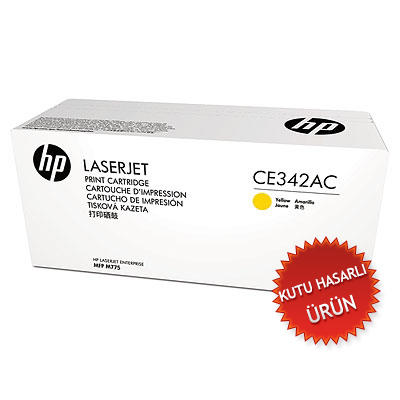 HP - HP CE342AC Sarı Orjinal Toner - HP LaserJet 700 Pro M775 (C)
