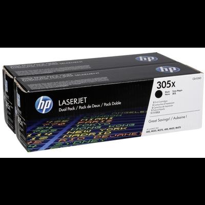 HP - HP CE410XD (305X) Siyah Orjinal Toner 2li Paket- Yüksek Kapasite
