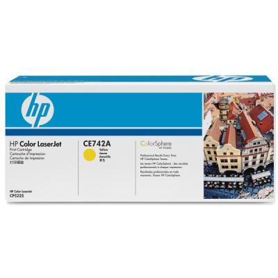 HP - HP CE742A (307A) SARI ORJİNAL TONER (B)
