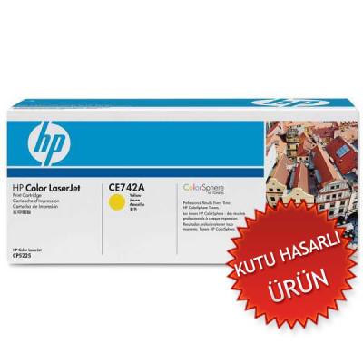 HP - HP CE742A(307A) SARI ORJİNAL TONER (C)