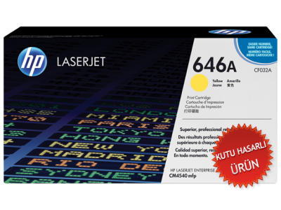 HP - HP CF032A (646A) SARI ORJİNAL TONER LaserJet CM4540 (C)