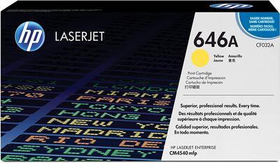 HP - HP CF032A (646A) Sarı Orjinal Toner LaserJet CM4540
