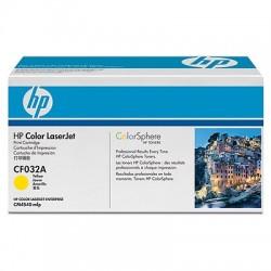 HP - HP CF032A (646A) SARI ORJİNAL TONER LaserJet CM4540 (B)