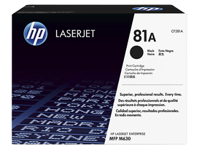 HP - HP CF281A (81A) SİYAH ORJİNAL TONER M604 / M605 / M630
