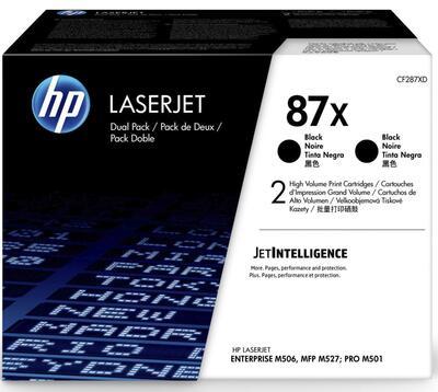 HP - Hp CF287XD (87X) 2'li Paket Siyah Orjinal Toner Yüksek Kapasite Laserjet M501dn