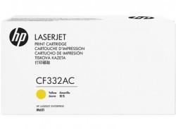 HP - HP CF332AC (654A) SARI ORJİNAL TONER - LaserJet M651