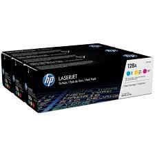 HP - HP CF371AM (CE321A+CE322A+CE323A) 3LÜ PAKET RENKLİ ORJİNAL TONER