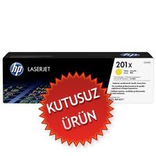 HP - HP CF402X (201X) SARI ORJİNAL TONER (U)