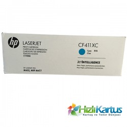 HP - HP CF411XC (410X) MAVİ ORJİNAL TONER Yüksek Kap. M452 / M477