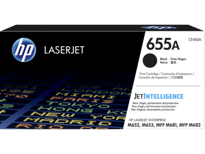 HP - HP CF450A (655A) Siyah Orjinal Toner Laserjet M652, M653, M681,