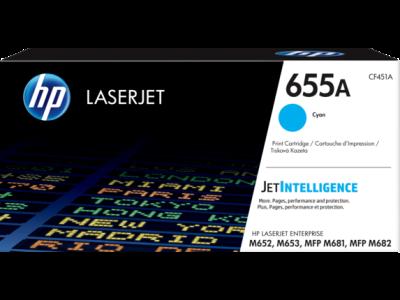 HP - HP CF451A (655A) Mavi Orjinal Toner Laserjet M652, M653, M681,