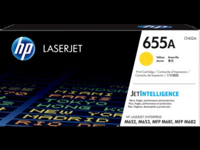 HP - HP CF452A (655A) SARI ORJİNAL TONER Laserjet M652, M653, M681,