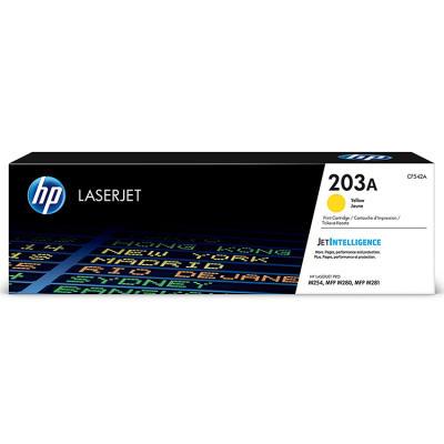 HP - HP CF542A (203A) SARI ORJİNAL TONER - M254, MFP M280, M281