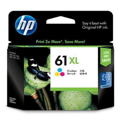 HP - HP 61XL CH564WA Renkli Orjinal Kartuş Yüksek Kapasite - Deskjet 1000/ 2000