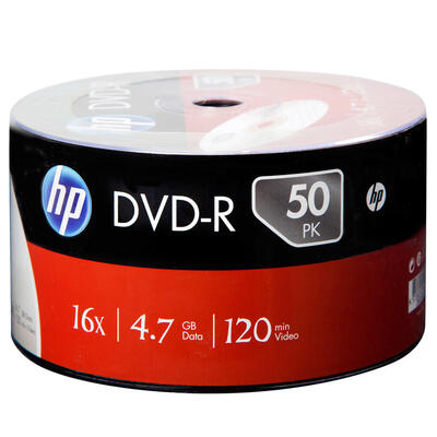 HP - Hp DME00070-3 16X 4.7 GB DVD-R (50'li Paket)