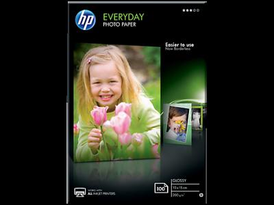 HP - Hp Günlük Parlak Fotoğraf Kağıdı, 100 yaprak/10 x 15 cm (CR757A)