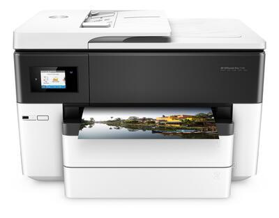 HP - HP Officejet Pro 7740 Fotokopi + Tarayıcı + Faks + Ethernet + Wifi + Çok Fonksiyonlu A3 Mürekkep Yazıcı (G5J38A)