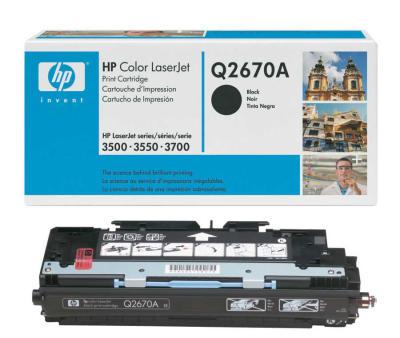HP - HP Q2670A (308A) SİYAH LAZER TONER (B)