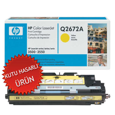 HP - HP Q2672A (309A) SARI ORJİNAL LAZER TONER (C)