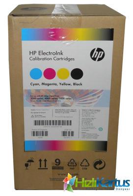 HP - Hp Q5390 ElectroInk Orjinal Indigo Mürekkebi (4lü Paket) Digital Press 3000, 4000, 5000