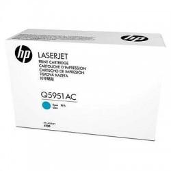 HP - HP Q5951AC MAVİ ORJİNAL TONER-HP Laserjet 4700