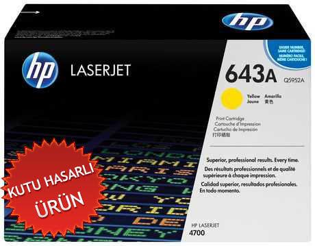 HP Q5952A Sarı Orjinal Toner - HP Laserjet 4700 (C)