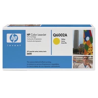 HP - HP Q6002A (124A) SARI ORJİNAL TONER - HP 1600 / 2600 ORJİNAL TONER (B)