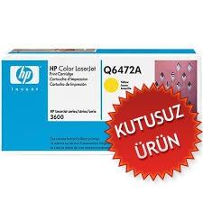 HP - HP Q6472A SARI ORJİNAL TONER - HP 3600 (U)