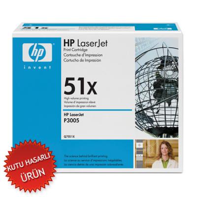 HP - HP Q7551X (51X) SİYAH ORJİNAL TONER (C)