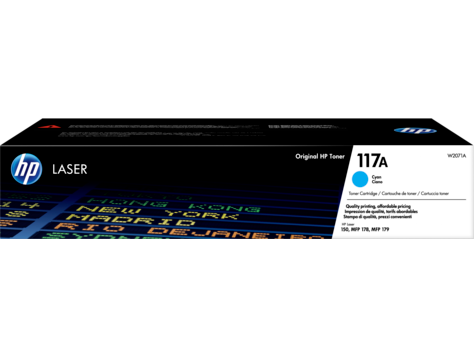 HP W2071A (117A) Mavi Orjinal Toner Laserjet MFP 178nw, 179nw, 150a, 150nw