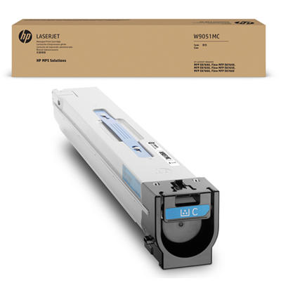 HP - HP W9051MC Mavi Managed Orjinal Toner Laserjet Managed E87640dn, E87650dn, E87660dn