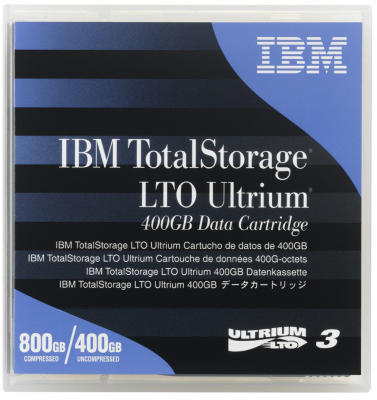 IBM - IBM 24R1922 LTO-3 Ultrium 3 400 GB / 800 GB Data Kartuşu 680m, 12.65mm