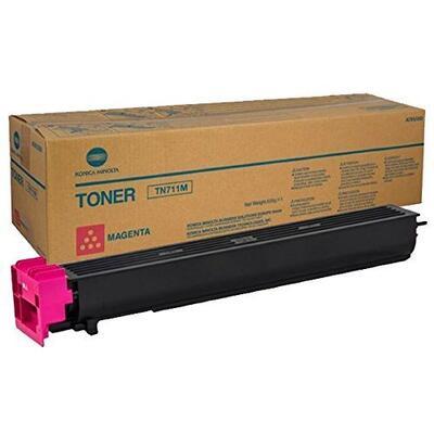 KONICA MINOLTA - Konica Minolta TN-711M Kırmızı Orjinal Toner (A3VU350) - +654 / +754