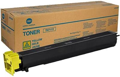 KONICA MINOLTA - Konica Minolta TN-711Y Sarı Orjinal Toner (A3VU250) Ineo +654, Ineo +754