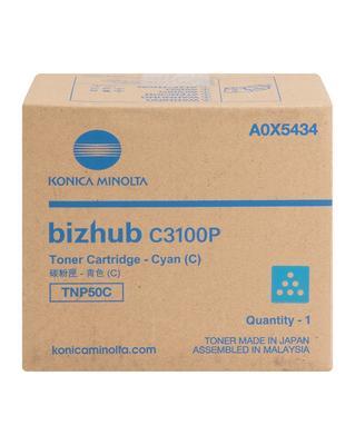 KONICA MINOLTA - Konica Minolta BizHub TNP50C C3100P Mavi Orjinal Toner (A0X5454)