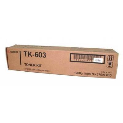 KYOCERA - Kyocera TK-603 Siyah Orjinal Fotokopi Toneri KM-4530, KM-5530, KM-6330, KM-7530