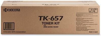 KYOCERA - Kyocera TK-657 Siyah Orjinal Toner - Mita KM6030 / KM8030