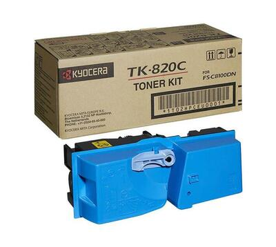 KYOCERA - Kyocera TK-820C Mavi Orjinal Toner (1T02HPCEU0) FS-C8100dn