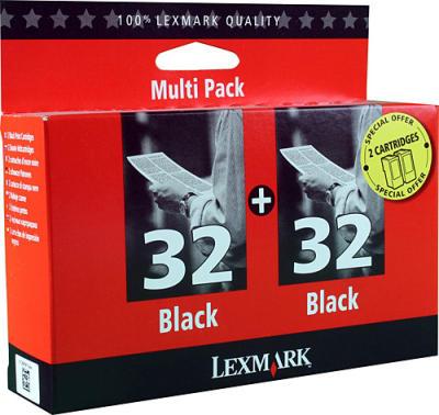 LEXMARK - Lexmark 32+32 İkili Paket Siyah Kartuş 80D2956