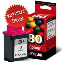 LEXMARK - LEXMARK 80 12A1980 RENKLİ ORJİNAL KARTUŞ (U)
