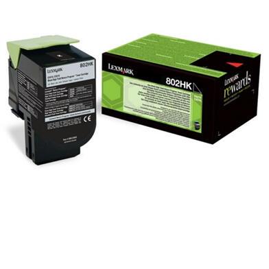 LEXMARK - Lexmark 802HKE Siyah Orjinal Toner (80C2HKE) CX410 / CX510