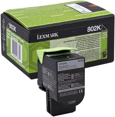 LEXMARK - Lexmark 802K Siyah Orjinal Toner (80C20K0) - CX310 / CX410 / CX510
